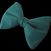 Vintage 1970s Menswear Fat Forest Green Bowtie Bow Tie Necktie Neck Tie