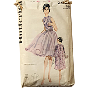 Vintage 1960s Butterick Sewing Pattern 2903 Jr and Miss Ensemble Cocktail Dress with Matching