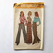 Vintage 1973 High Waisted Dress Trousers Pants for Women with Wide Legs Sewing Pattern #5805 S