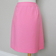 Vintage 1960s Cotton Candy Pink Twill Skirt