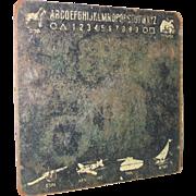 Vintage Chalkboard Chalk Board Black and White Alphabet War Time