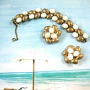 SALE Fabulous Schiaparelli Exquisite Bracelet and Earring Demi
