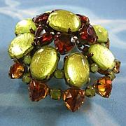 SALE GorgeousDesigner Heart Shaped Rhinestones Rare Brooch