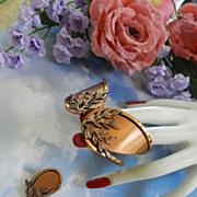 SALE Fabulous Renoir Vintage Clamper Bracelet Laurel Leaves Gorgeous!