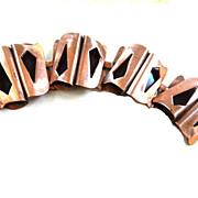 SALE Vintage Mid Century Modern Big chunky Copper Bracelet