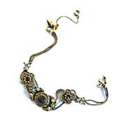 SALE Vintage Slide charm Bracelet Designer C.50's Faux Pearls