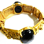 SALE Vintage castlecliff Collector Piece Huge Clamper Bracelet