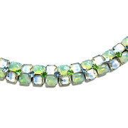 SALE Beautiful  Givre  Kramer N.Y.Vintage Bracelet Mint Green and Blue