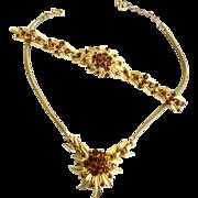 SALE Vintage Crown Trifari 50s Starburst Necklace Bracelet Earrings