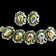 SALE Humongous Judy Lee Designer Rhinestone Bracelet and Earrings