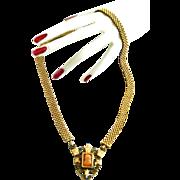 SALE Circa 1870s Victorian Cameo Necklace and Bracelet