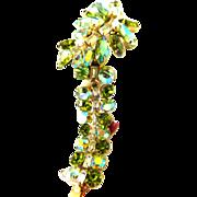 SALE Breathtaking Caviness Peridot Rhinestone Bracelet