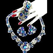 SALE Breathtaking Schiaparelli Watermelon Necklace Bracelet Earrings