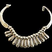 SALE Gorgeous Sterling Silver Mexico Vintage Teardrop Necklace