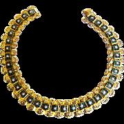 SALE Mesmerizing Vintage Victorian Style Enamel Bookchain Necklace