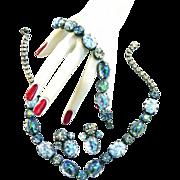 SALE Vintage 50s Art Glass Cabochon Necklace Bracelet and Earrings