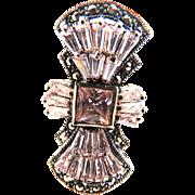 SALE Exquisite Marcasite Vintage Dinner Ring