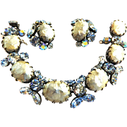 SALE Beautiful Regency Faux pearl Bracelet and Earrings