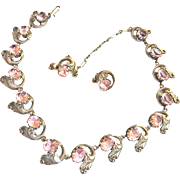 SALE Jaw Dropping Sterling Silver 1940s Necklace and Earrings