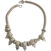 SALE Modernistic 1980s Chunky Charm Necklace