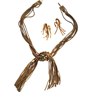 SALE Attention Seeking Sandor Foxtail Necklace and Earrings
