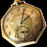 SALE 1923 Elgin Gold Filled Mens Pocket Watch