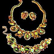 SALE Gorgoeos Juliana Watermelon Tourmaline Necklace Bracelet Earrings