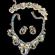 SALE Juliana Chunky Hematite Cabochon Necklace Bracelet Earrings Brooch