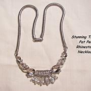 SALE Fantastic Alfred Philippe Trifari patent pen Circa 50's Rhinestone Royal crown Necklace