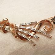 SALE Fantastic Alfred Philippe Trifari Pat Pend 1949 rhinestone Baguette Necklace