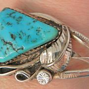 SALE Native American beauty Turquoise silver Cuff Bracelet