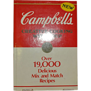 """Campbell's Creative Cooking with Soup"" First Edition c. 1985"