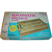 Rolomatic Bridge Machine - Set 2 for Experienced Players by Milton Bradley c. 1969