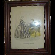 "Vintage ""Godey's Americanized Paris Fashions 1865"" Framed Print"