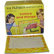 Playskool Match-Ups Interlocking Picture Puzzles c. 1964
