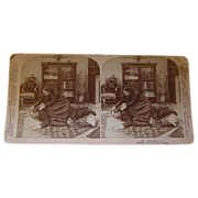 "Vintage Stereoscopic ""Oppressed"" by Strobmeyer and Wyman c. 1900"
