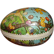 SOLD Vintage German Paper Mache Easter Egg Candy Container