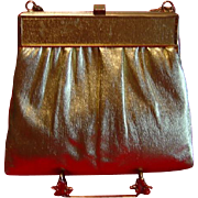 SALE Gold Lame Handbag Evening Bag by HL