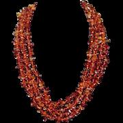 Vintage Five Strand Beaded Necklace
