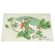 German Embossed Christmas Greetings Postcard