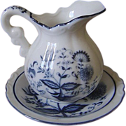 Blue Onion Japan Pitcher and Underplate