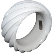 SALE HUGE White Spiral Molded Plastic Bangle Bracelet Made in Western Germany