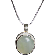 Vintage Sterling Silver and Gemstone Pendant