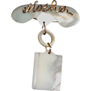 Vintage Mother of Pearl Mother Pin
