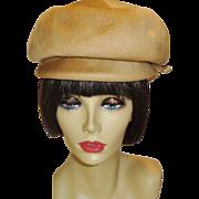 Vintage Glenover 100% Wool Newsboy Hat