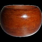 Vintage WIDE Domed Wooden Bangle Bracelet