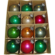 Shiny Brite Glass Christmas Ornaments in Original Box
