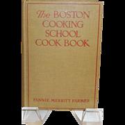 The Boston Cooking School Cook Book by Fannie Merritt Farmer c. 1939