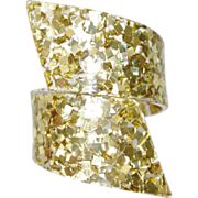 SALE Vintage Confetti Lucite Bypass Bracelet