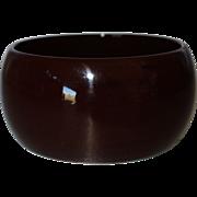 SALE Vintage Wide Chocolate Brown Lucite Bangle Bracelet